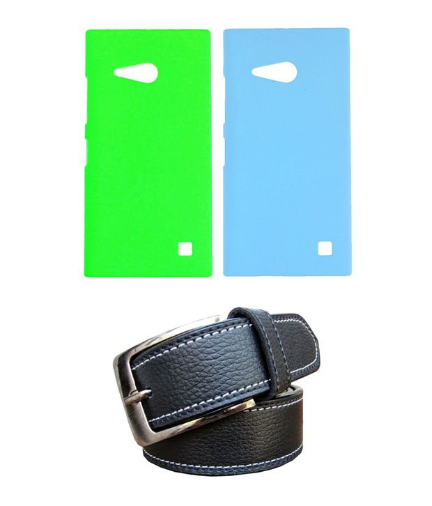 Winsome Deal Black Belt with 2 Back Cover Cases for Nokia Lumia 730