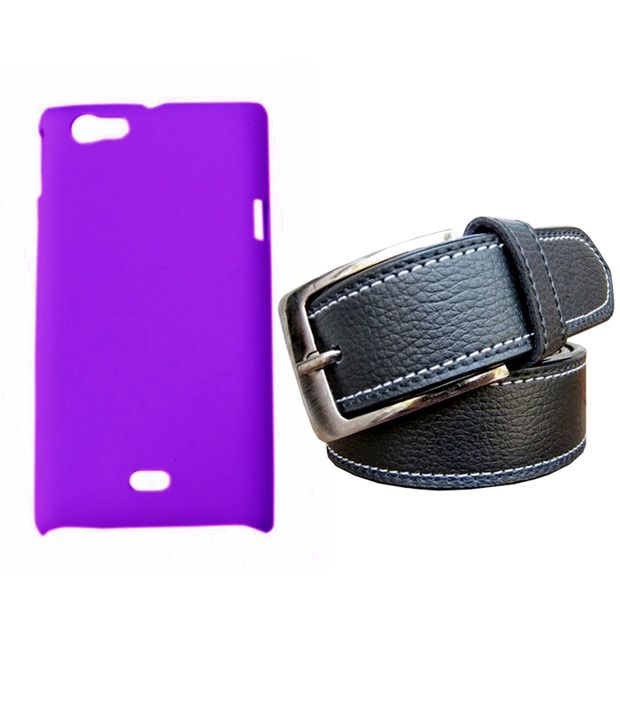 Winsome Deal Black Belt with Back Cover Case for Sony Xperia Miro ST23I