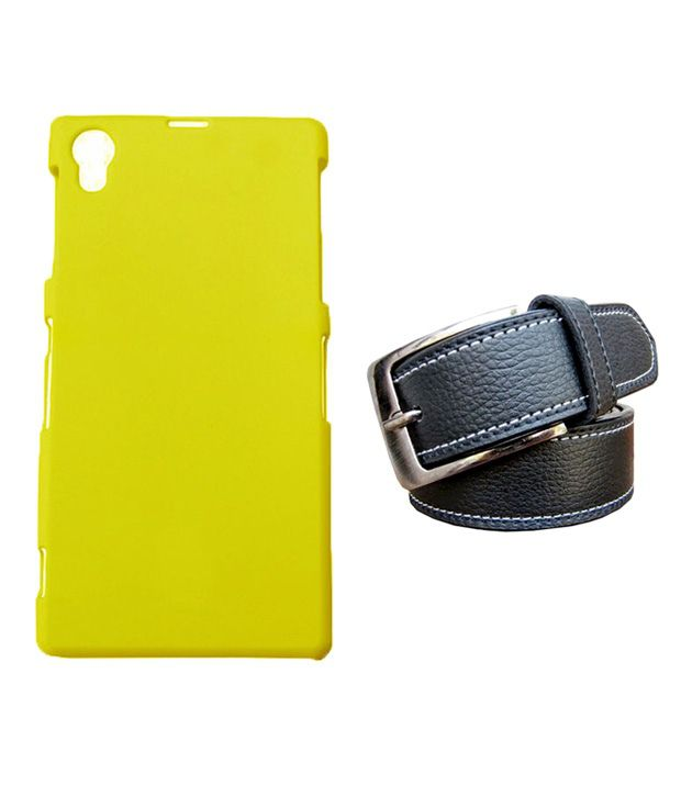 Winsome Deal Black Belt with Back Cover Case for Sony Xperia Z1