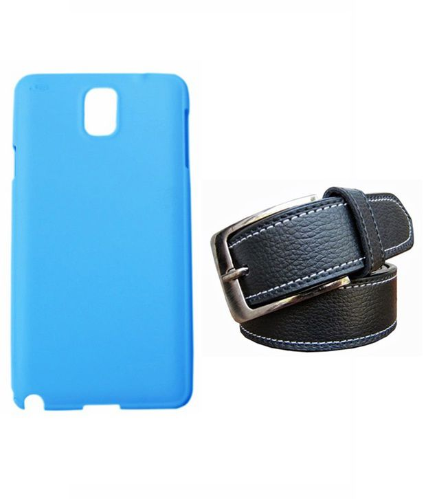 Winsome Deal Black Belt with Back Cover Case for Samsung Galaxy Note 3