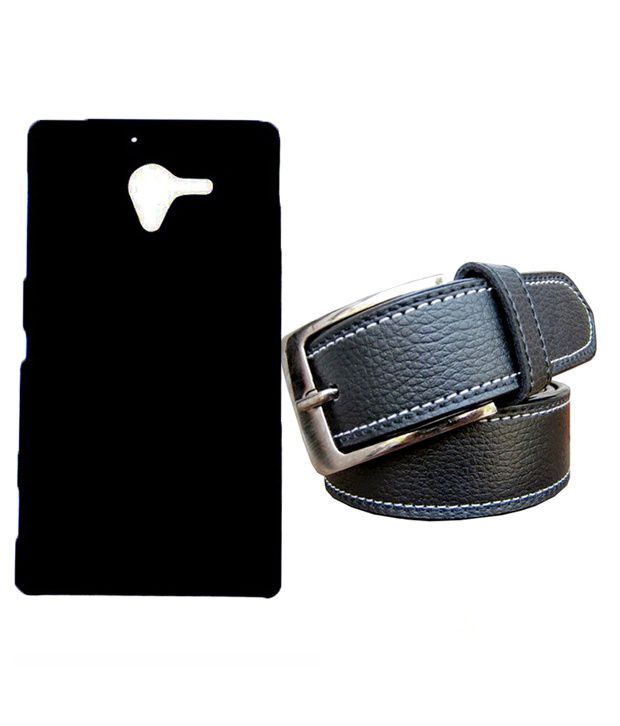 Winsome Deal Black Belt with Back Cover Case for Sony xperia ZL