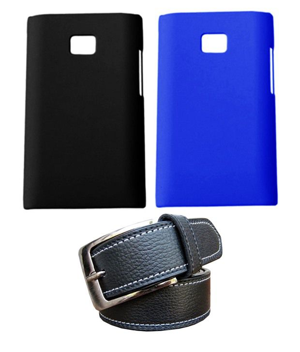 Winsome Deal Black Belt with 2 Back Cover Cases for LG L3 E400