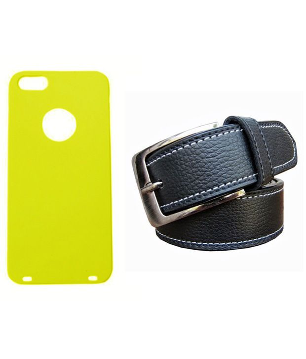 Winsome Deal Black Belt with Back Cover Case for Apple Iphone 5S