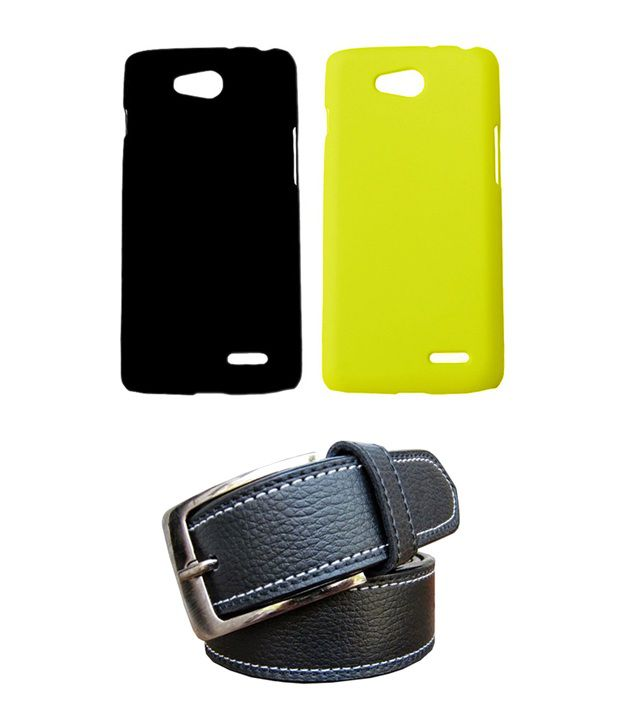 Winsome Deal Black Belt with 2 Back Cover Cases for LG L90 D405