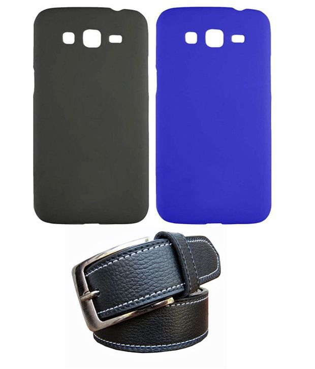 Winsome Deal Black Belt with 2 Back Cover Cases for Samsung Galaxy Grand 2 G7106