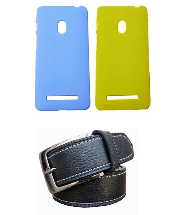 Winsome Deal Black Belt with 2 Back Cover Cases for Asus Zenfone 5 A500CG