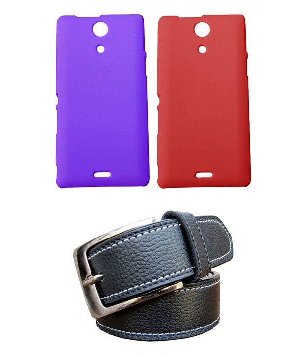 Winsome Deal Black Belt with 2 Back Cover Cases for Sony Xperia ZR