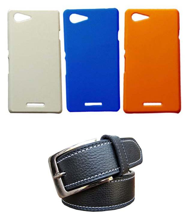 Winsome Deal Black Belt with 3 Back Cover Cases for Sony Xperia E3