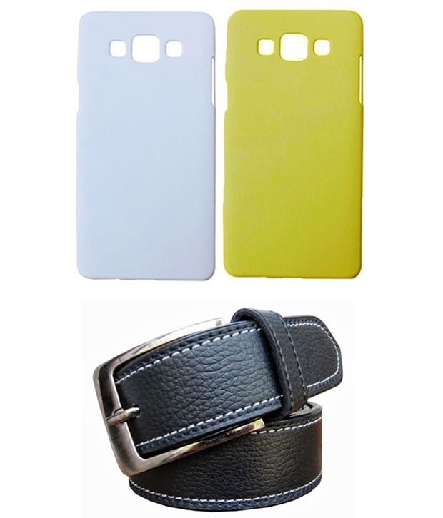 Winsome Deal Black Belt with 2 Back Cover Cases for Samsung Galaxy A3 A300