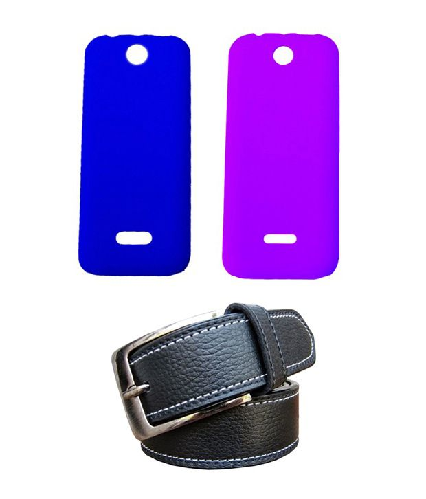 Winsome Deal Black Belt with 2 Back Cover Cases for Nokia Asha 225