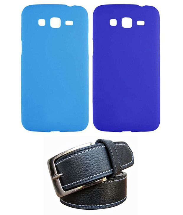 Winsome Deal Black Belt with 2 Back Cover Cases for Samsung Galaxy Grand Quatro I8552