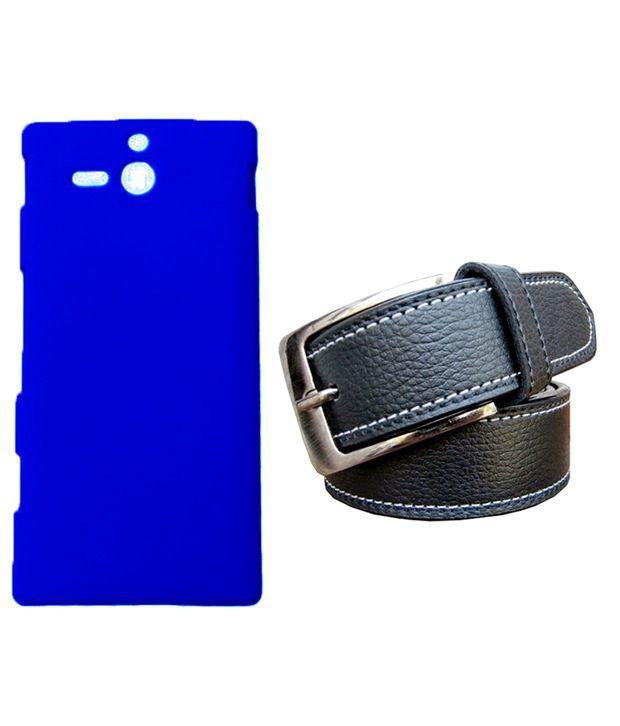 Winsome Deal Black Belt with Back Cover Case for Sony Xperia U ST25I