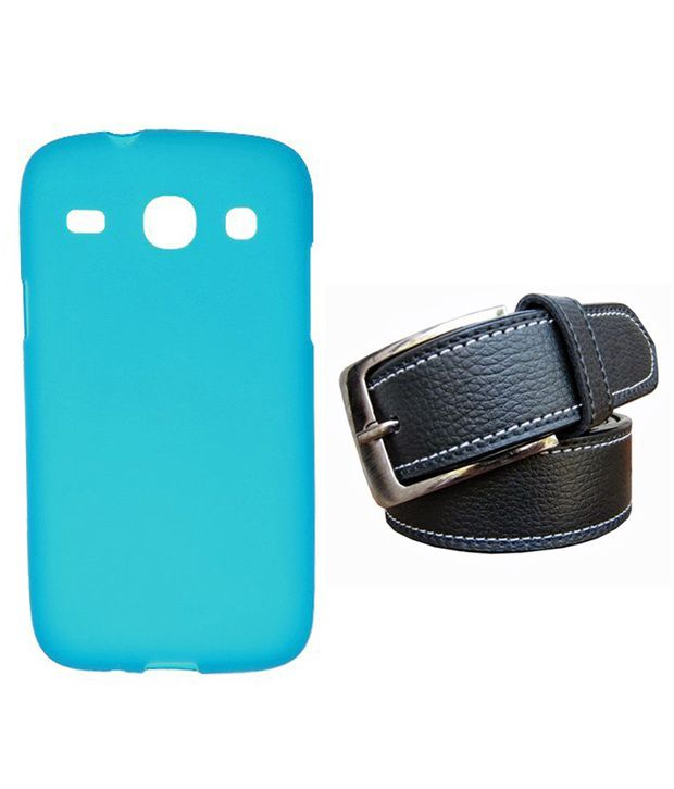 Winsome Deal Black Belt with Back Cover Case for Samsung Galaxy Core i8262