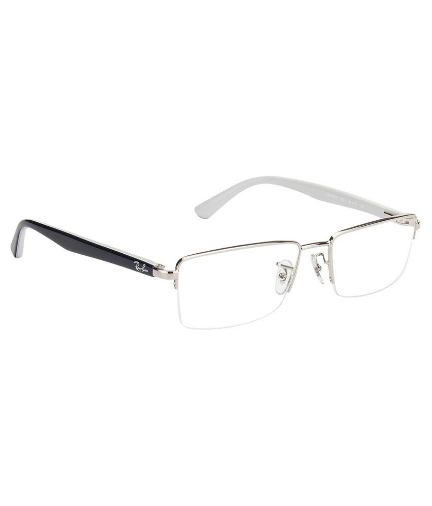 ray ban half frame eyeglasses  Ray-Ban Grey Square Half Rim Frame Eyeglasses - Buy Ray-Ban Grey ...