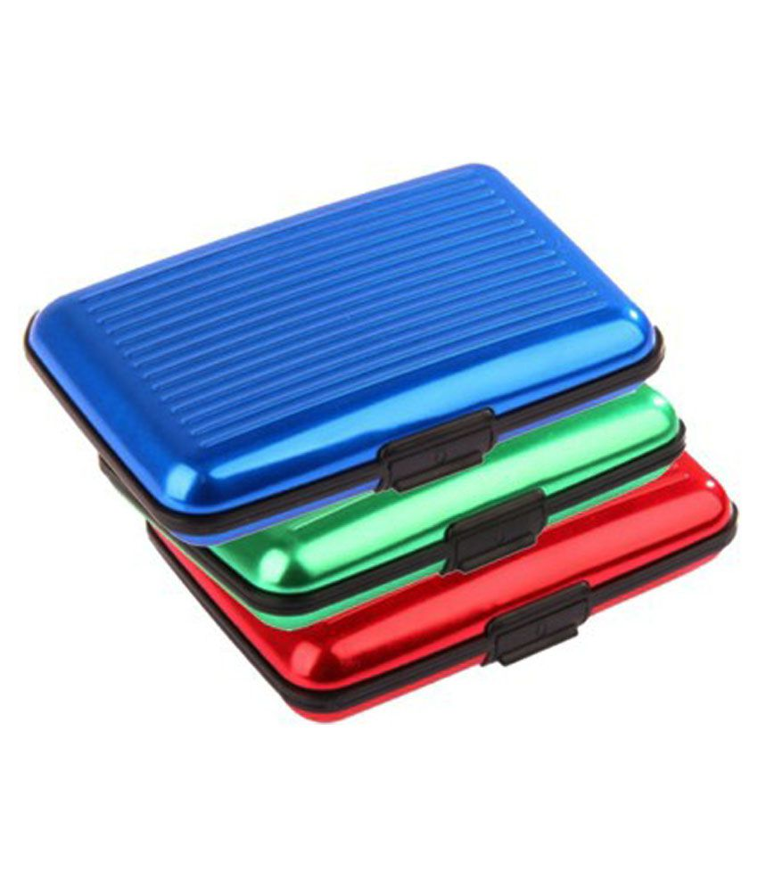 Grind Sapphire Combo Of 3 Hard Case Card Holder