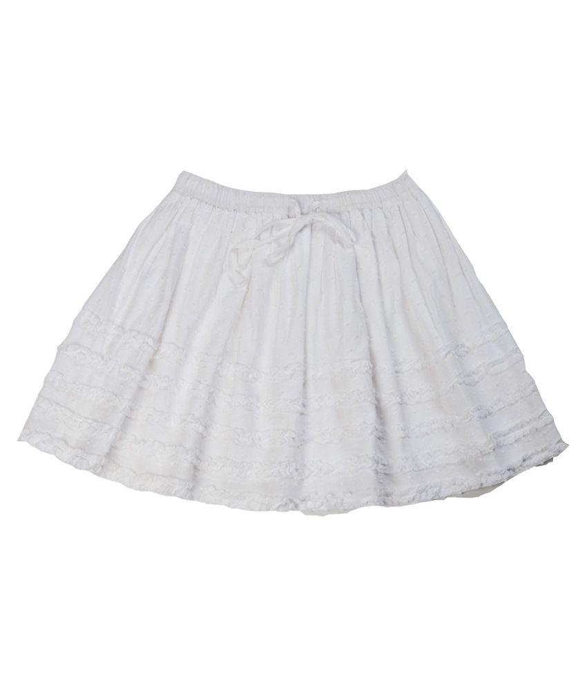 SbuyS White Skirt For Girls