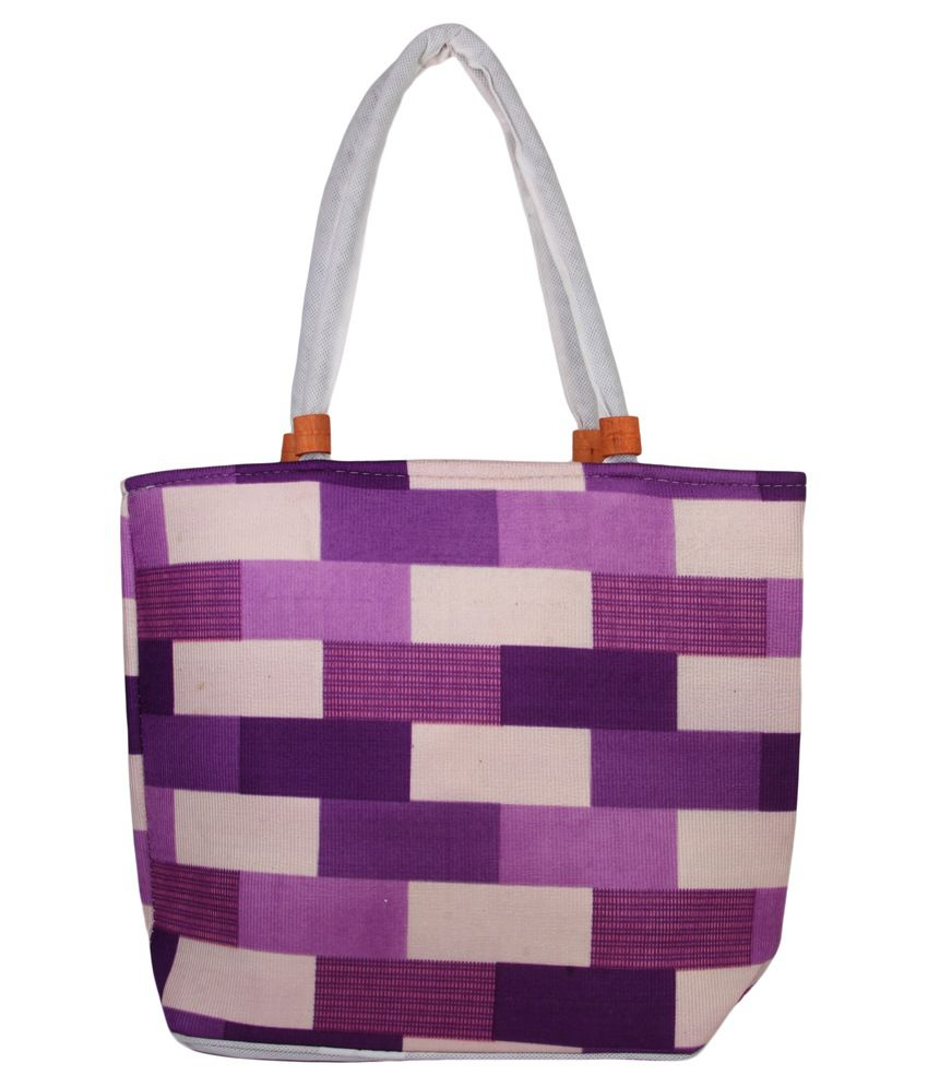 La Flora Purple Tote Bag
