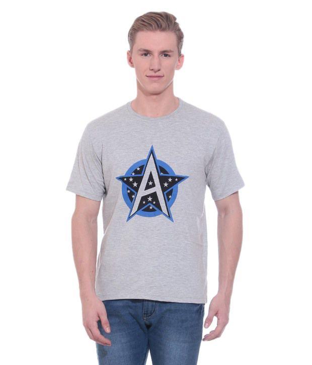 Shopdayz Grey Cotton T Shirt