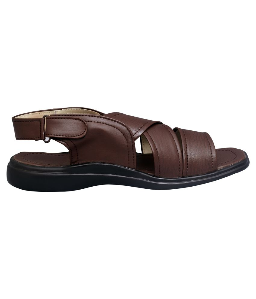 c4473c615521 Shopolozy Brown Synthetic Leather Sandals Shopolozy Brown Synthetic Leather  Sandals ...