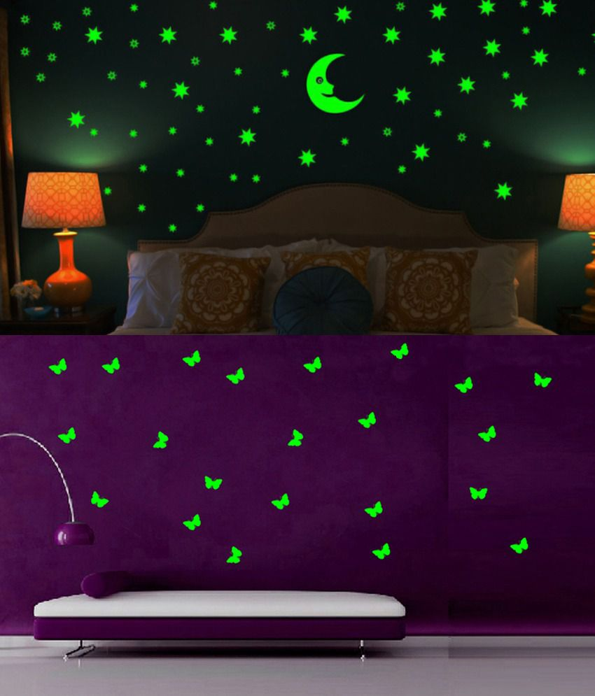 wow interiors and decors glowing small butterfly and