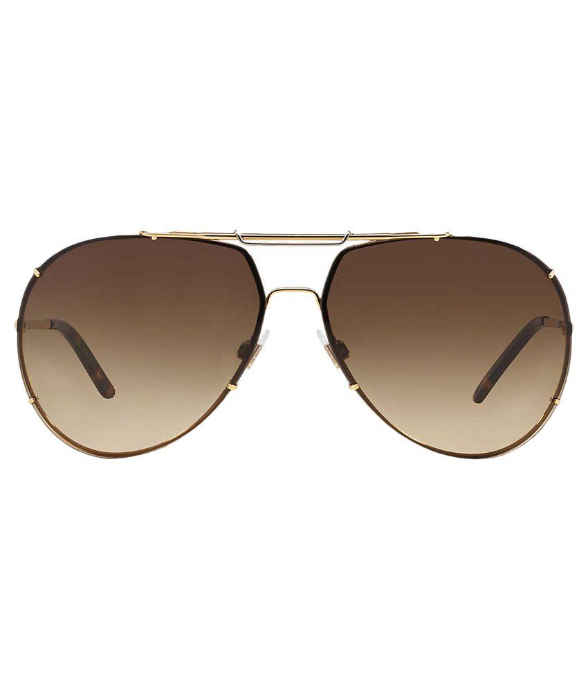 38a80f5d614ae ... Dolce   Gabbana DG-2075-034-13 Golden Metal Frame Aviator Sunglasses ...