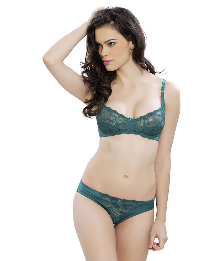3cf2e320eb5a Buy Lovelady Green Bra & Panty Sets Online at Best Prices in India -  Snapdeal