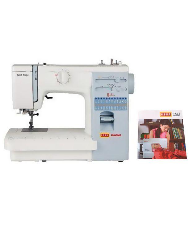 Usha Stitch Magic Automatic Sewing Machine (With Usha Sewing Design Book)