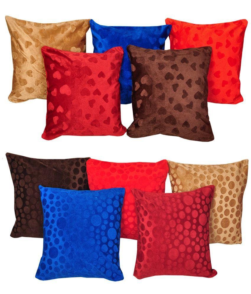 Click Shoppe Floral Cushion Cover Set Of 5 ( Buy 1 Get 1)