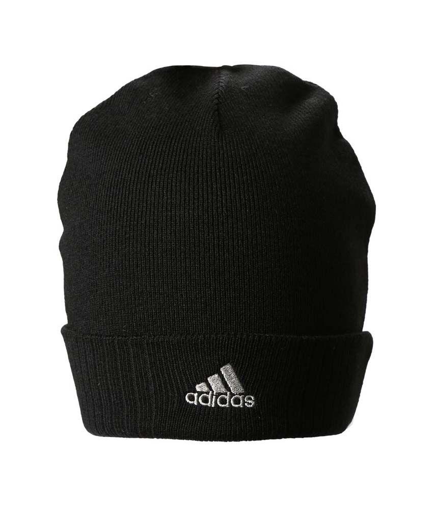 d7c049048fe Adidas Black Woollen Cap For Men And Women - Buy Online   Rs.