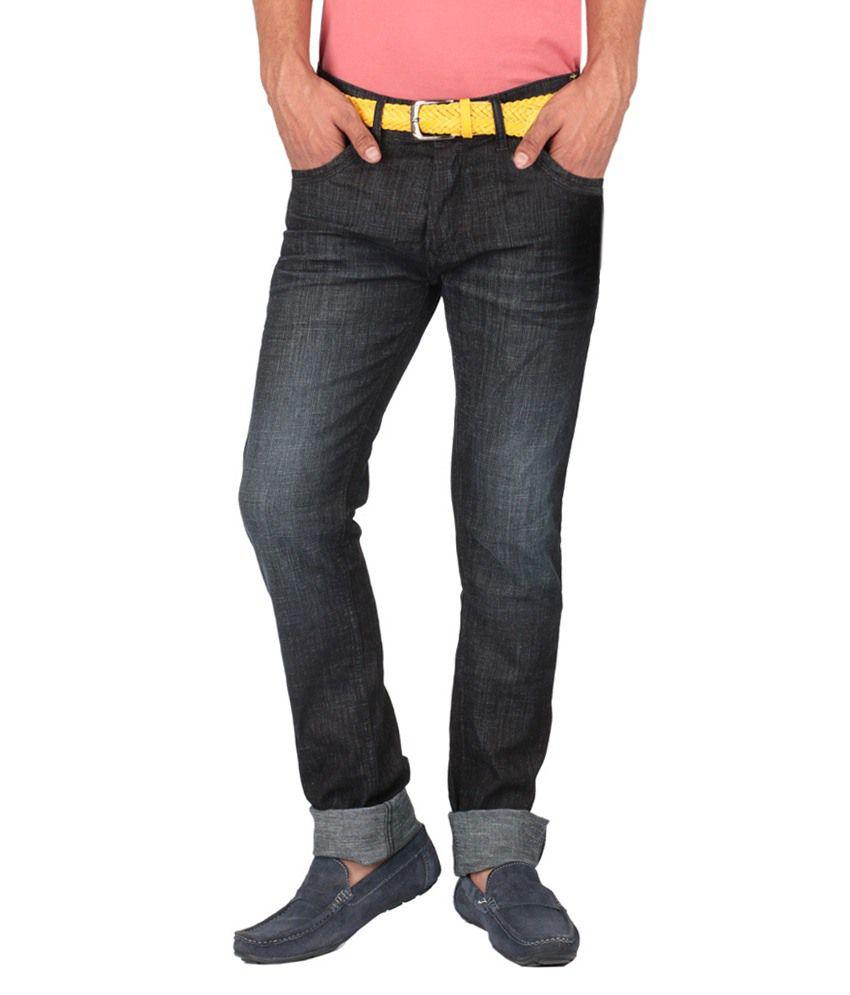 Streetguys Blue Cotton Blend Slim Fit Jeans