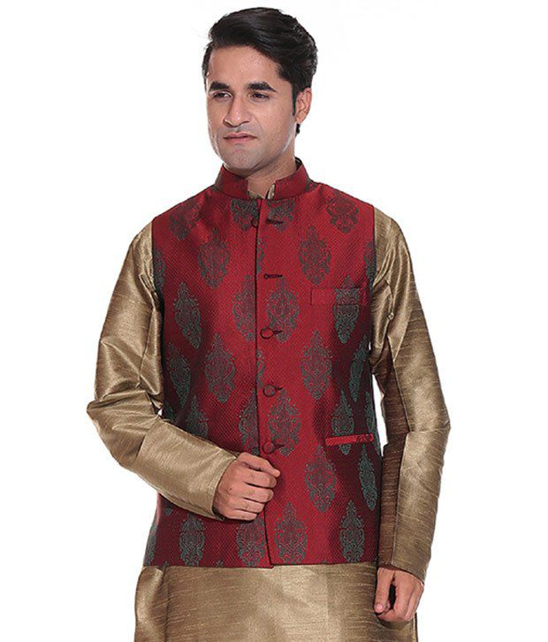 Tag 7 Maroon Semi-Formal Nehru Jacket
