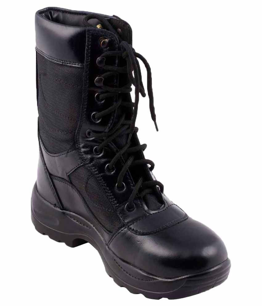 Adduce Black Leather Boots