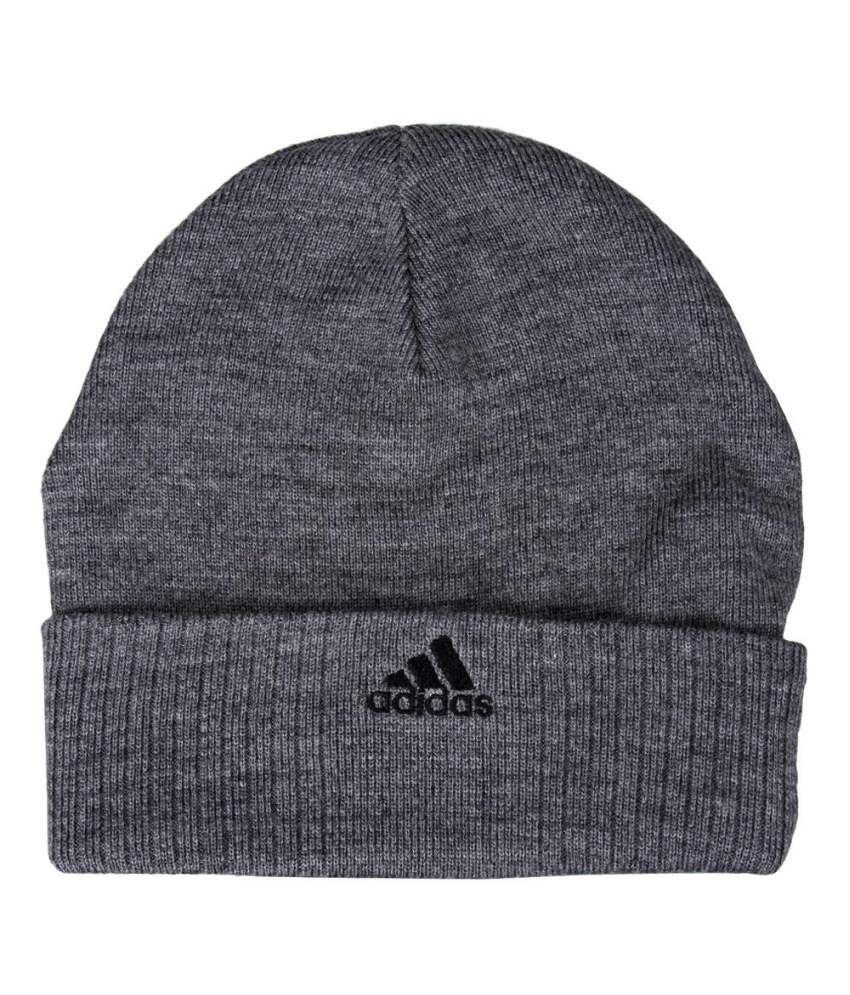 Adidas Gray Woolen Cap For Men And Women - Buy Online   Rs.  4dfbd386fee