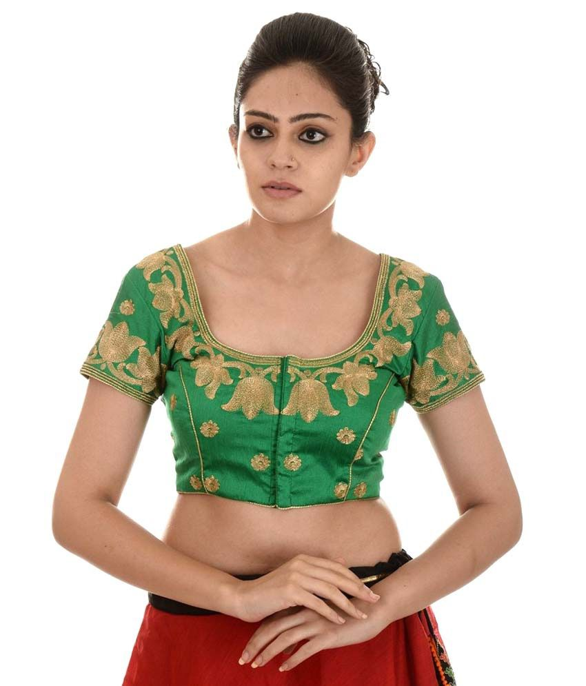 07493bf7df4f4e Shibori Designer Green Silk Blouses - Buy Shibori Designer Green Silk  Blouses Online at Low Price - Snapdeal.com