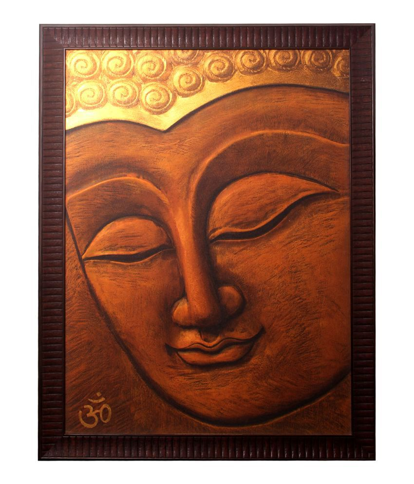 Srikara Frames Buddha - Closed eyes giant size framed with a imported frame