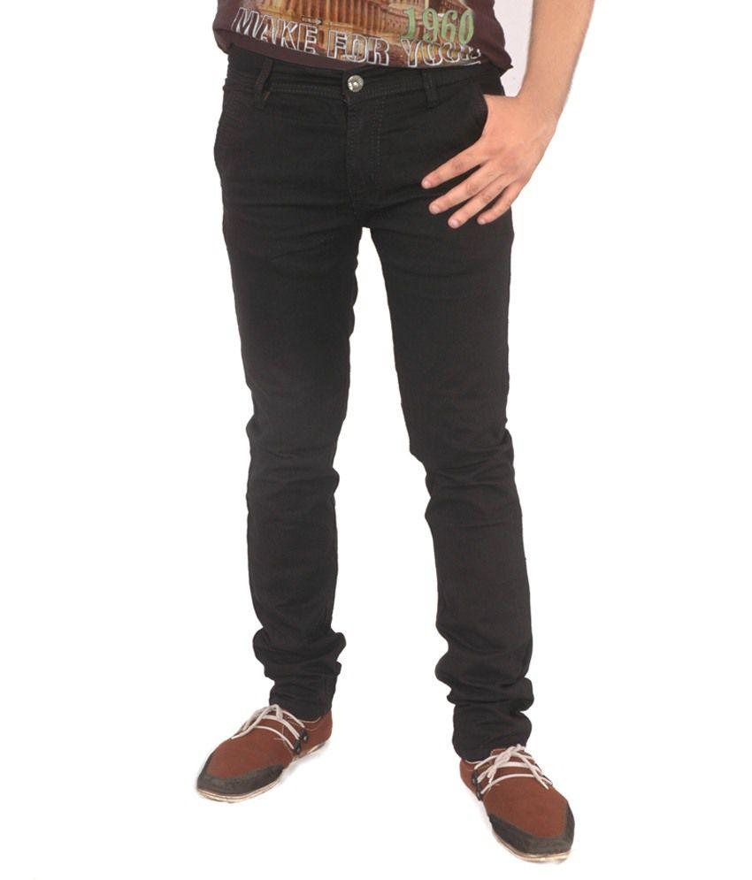 A N D Fashions Black Slim Fit Jeans