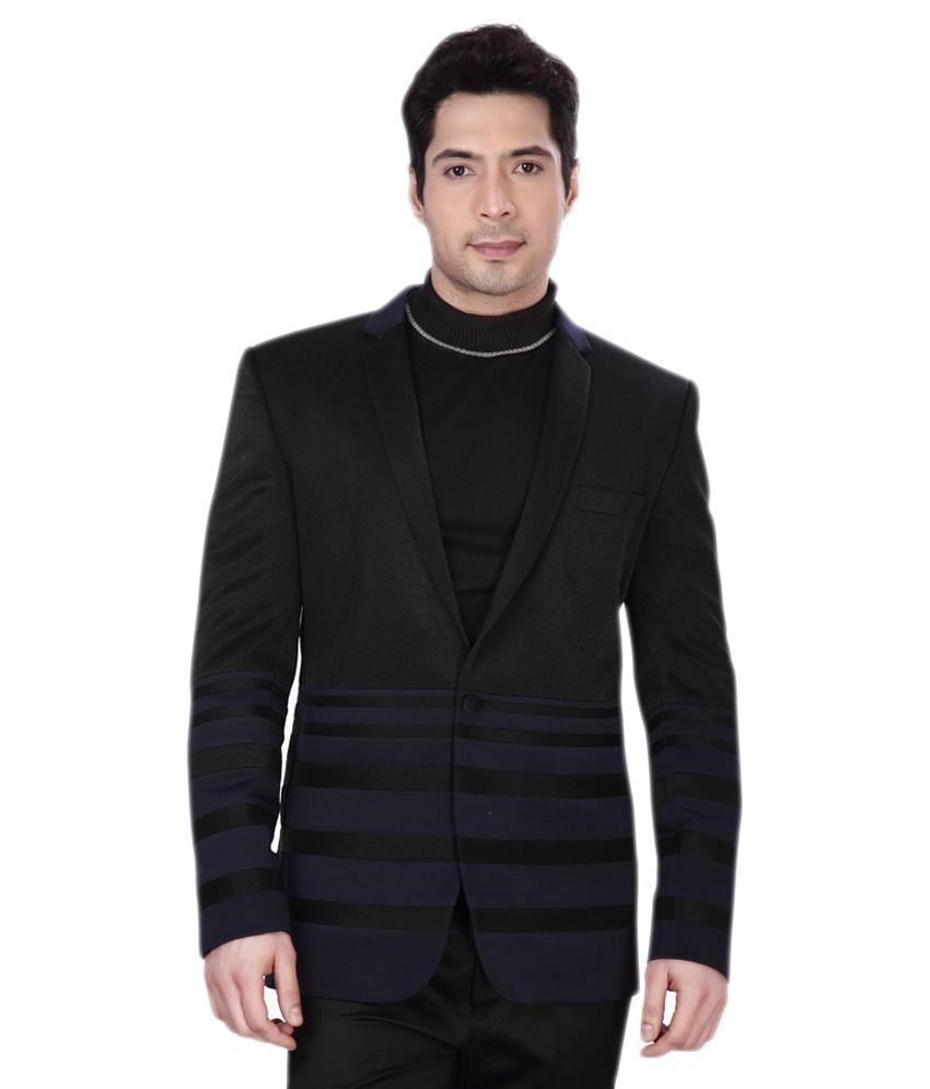 Dheeraj Sharma Black Cotton Blend Blazer