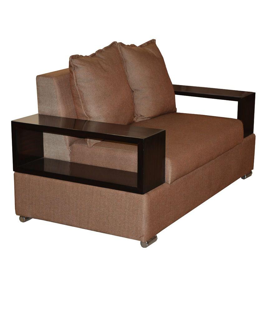 Hendal 7 Seater Sofa Set 3 2 2 In Brown Buy Hendal 7