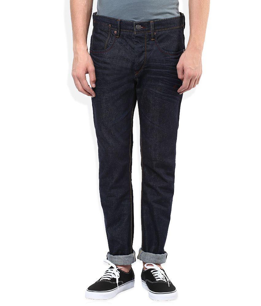 Original Penguin Navy Raw Denim Regular Fit Jeans