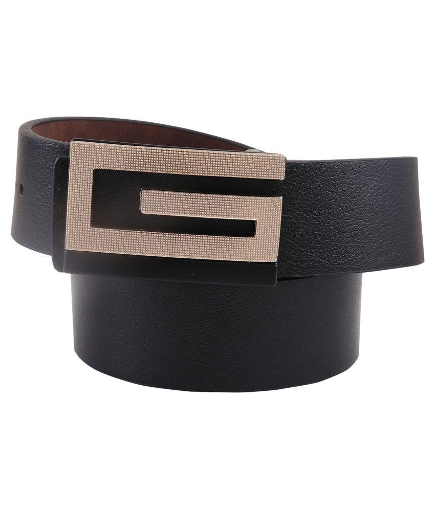 Remix Black Leather Casual Belt