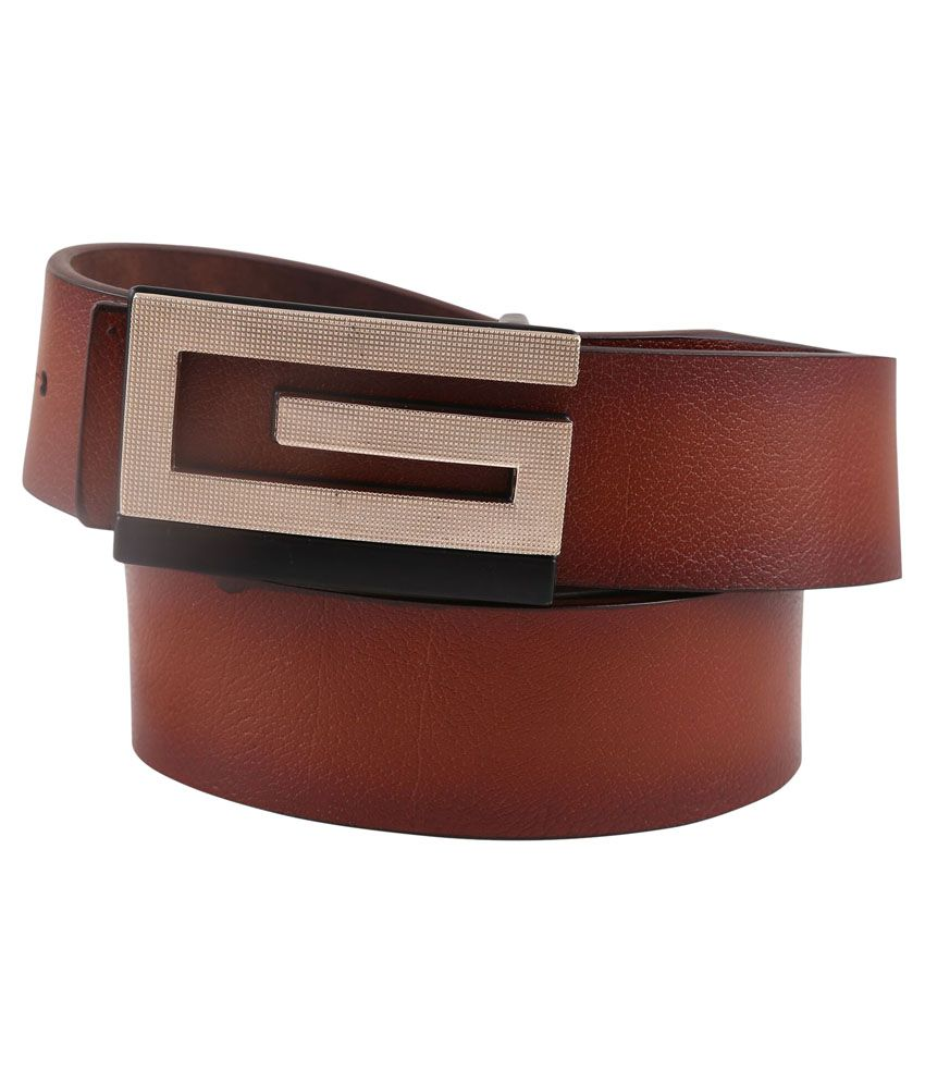Remix Tan Leather Casual Belt