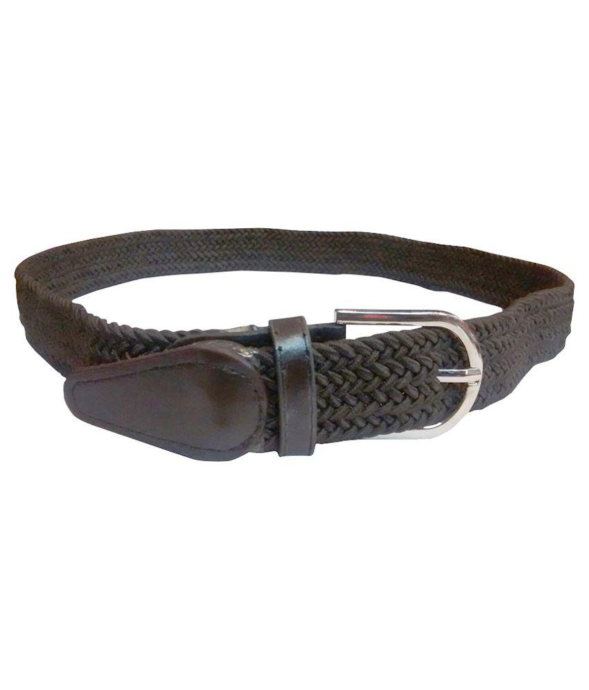unique collection brown canvas belt buy at low