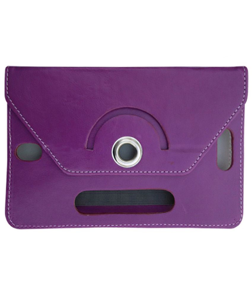 Fastway Flip Cover For Zync Z99 2G Calling Tab -Purple