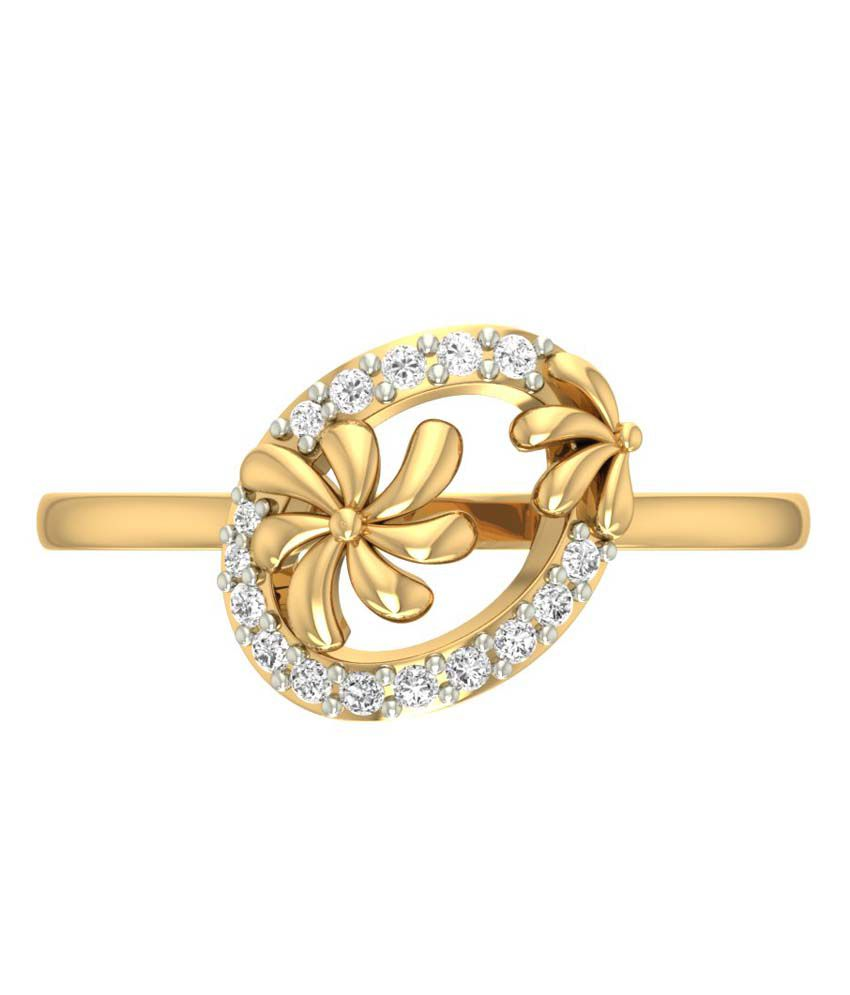 Jewels5 14kt Gold Diamond Delia Ring