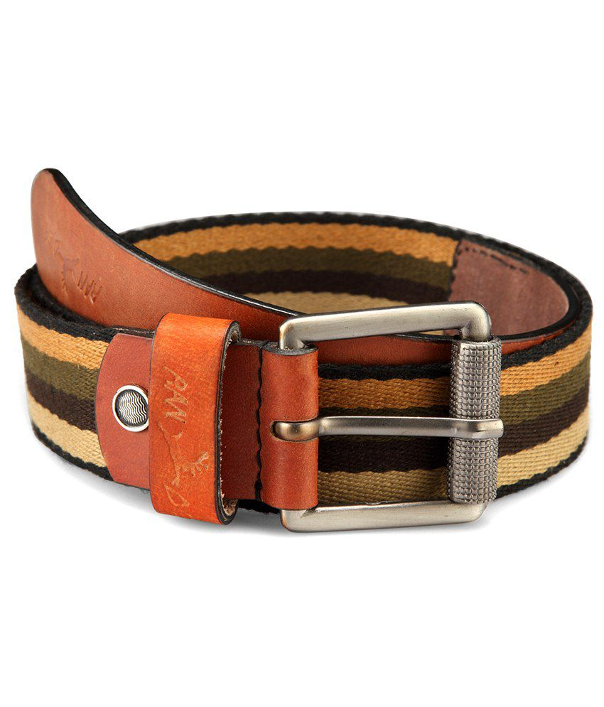 Randier Multicolor Canvas Casual Belt