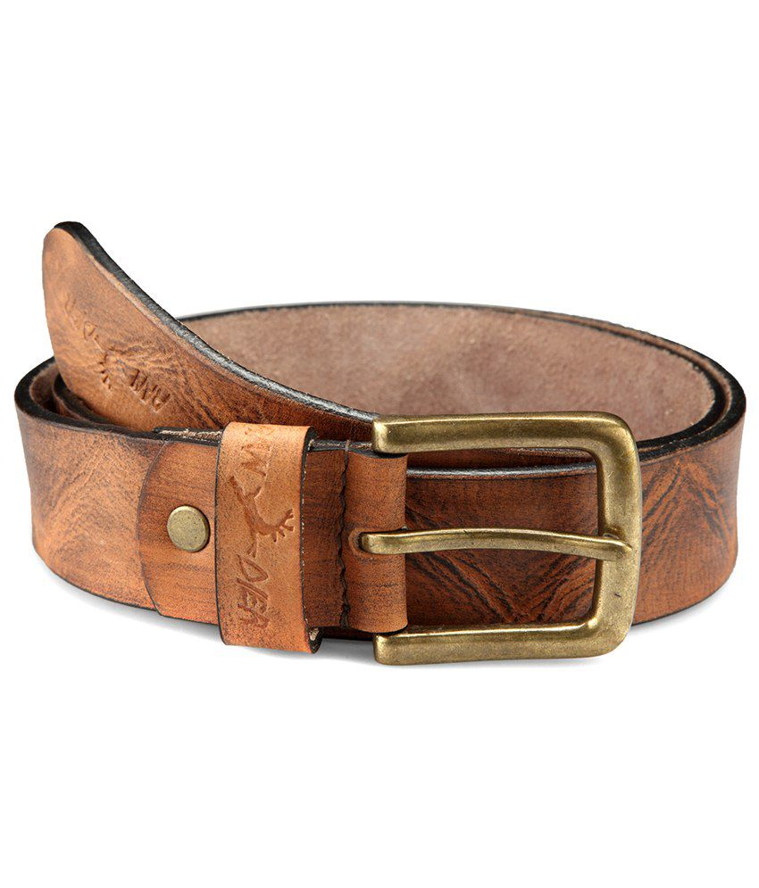 Randier Brown Casual Leather Belt