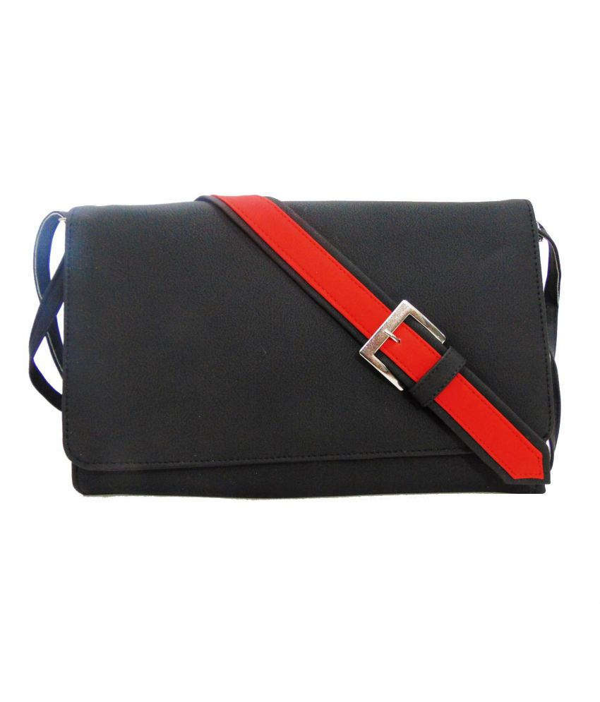 Estoss Black P.u. Sling Bag