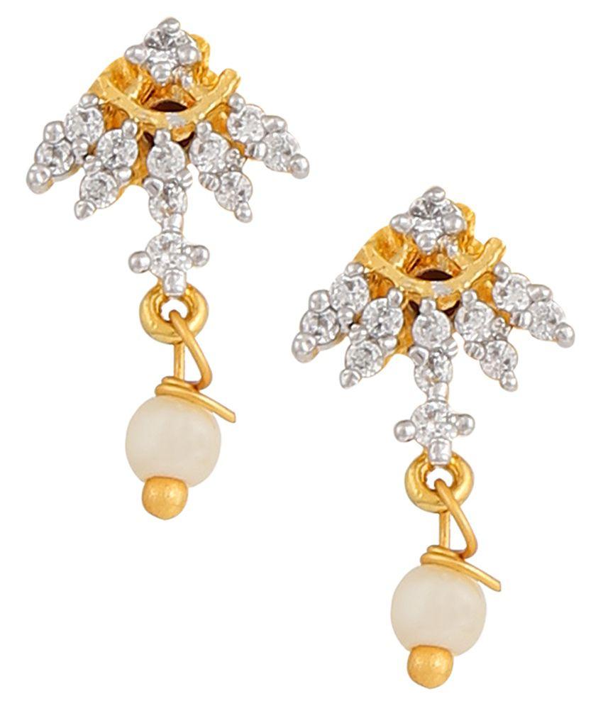 Parijaat Ethnic Gold Plated Stud Earrings