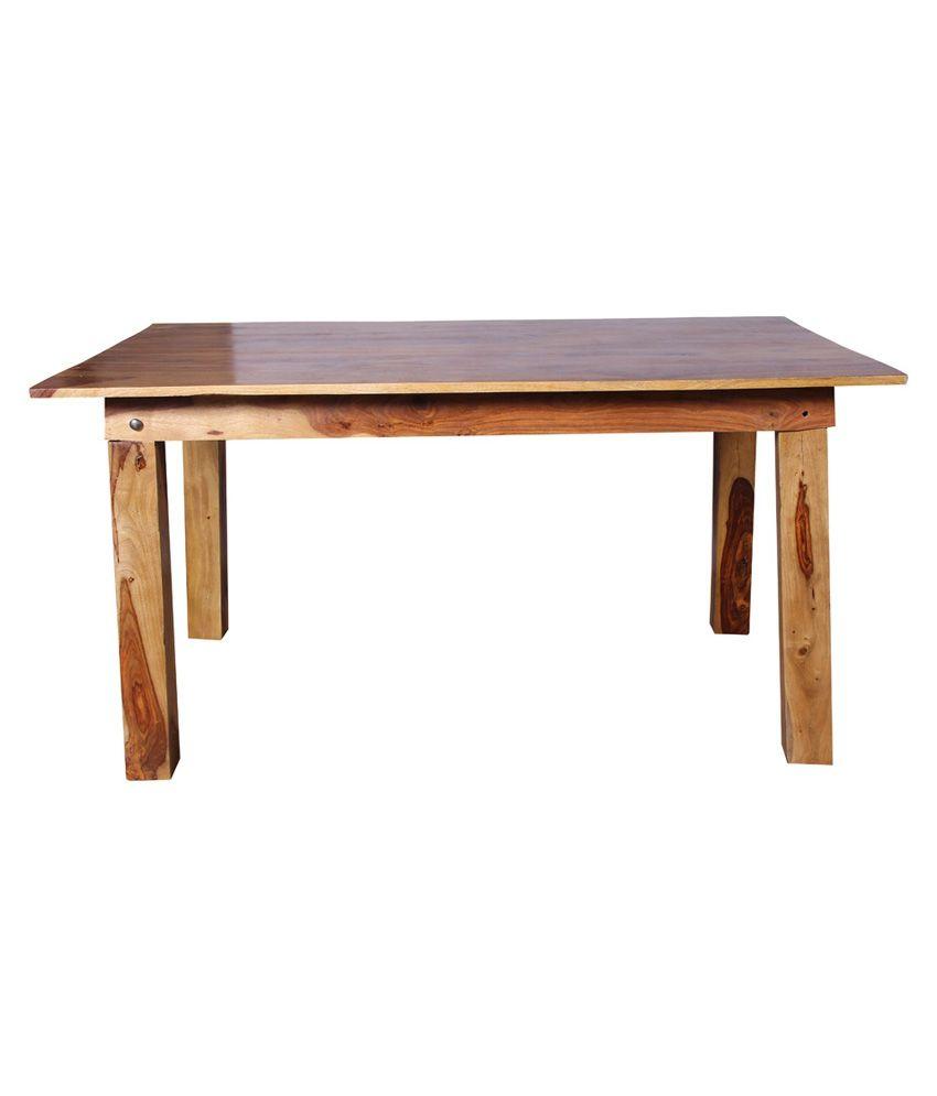 Kraftorium roy sheesham wood dining table best price in for Sheesham dining table