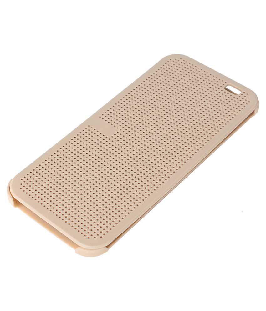 best cheap 7f490 63fea Starcase Flip Cover For HTC One ME Dual Sim-Golden